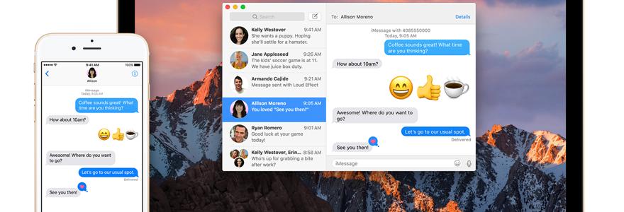 Messages pour Mac
